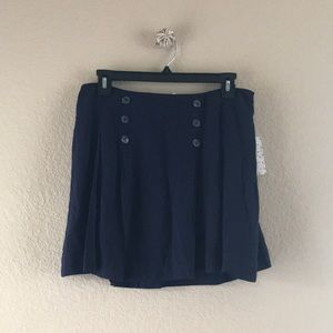 Free People Navy Sailor Skirt, NWT